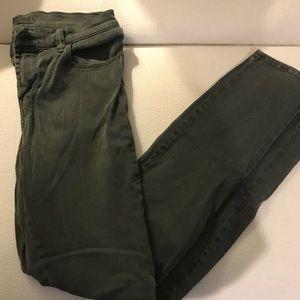 J Brand Dark Green Skinny Jeans